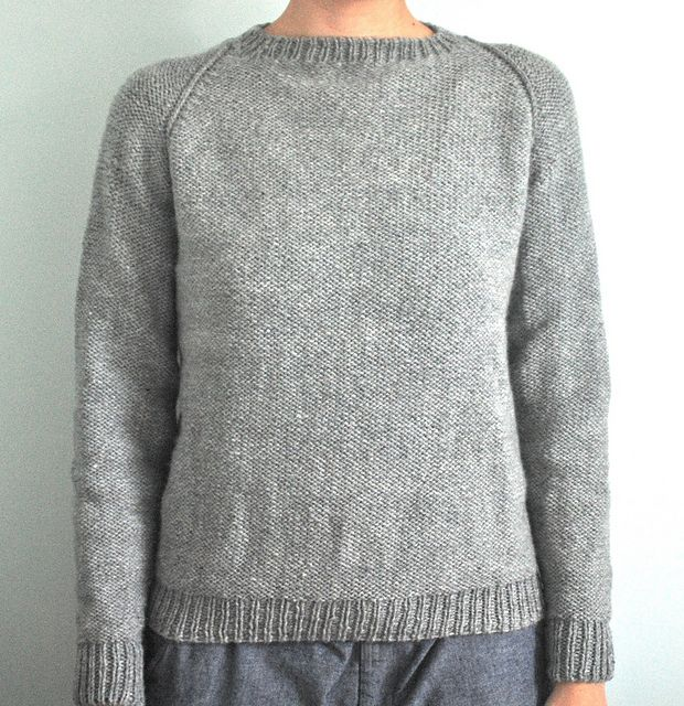 Raglan Pullover Knitting Pattern : Seamless raglan sweater adult pattern by elizabeth