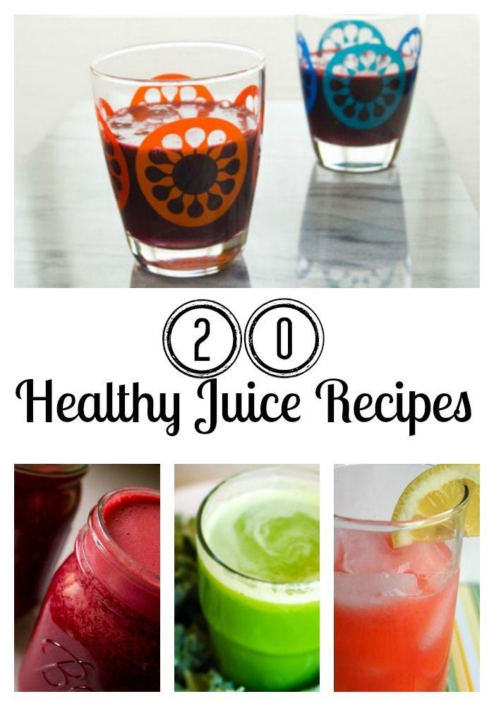20 Healthy Juice Recipes #juicing #recipes