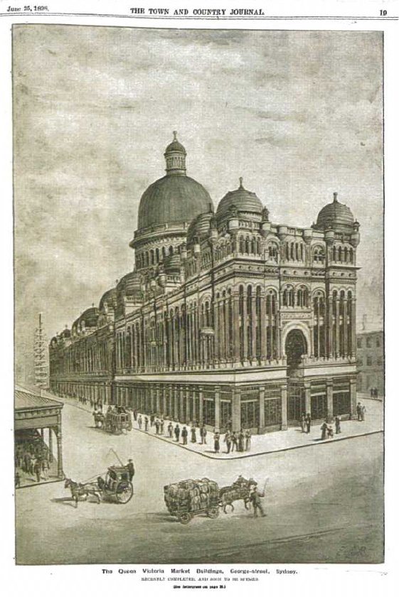 1898: The Queen Victoria Markets Building opens in Sydney. #QVB #Sydney