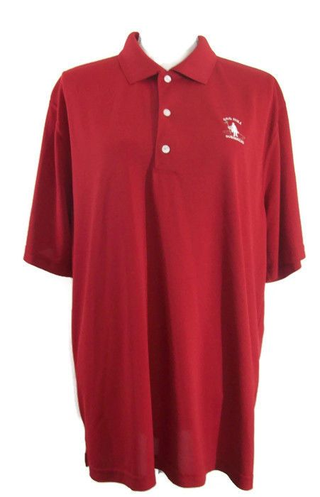 Greg Norman Cog Hill Dubsdread Mens Red Polo Shirt Golf Casual XL #GregNorman #PoloRugby