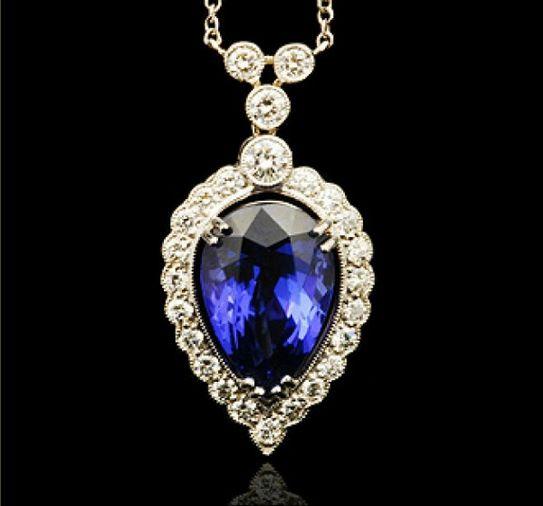 Kate Middleton's G.Collins & Sons Tanzanite & Diamond Pendant