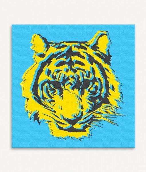 Tiger kids canvas wall art
