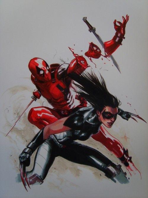 X-23 vs. Deadpool by Gabriele Dell'Otto