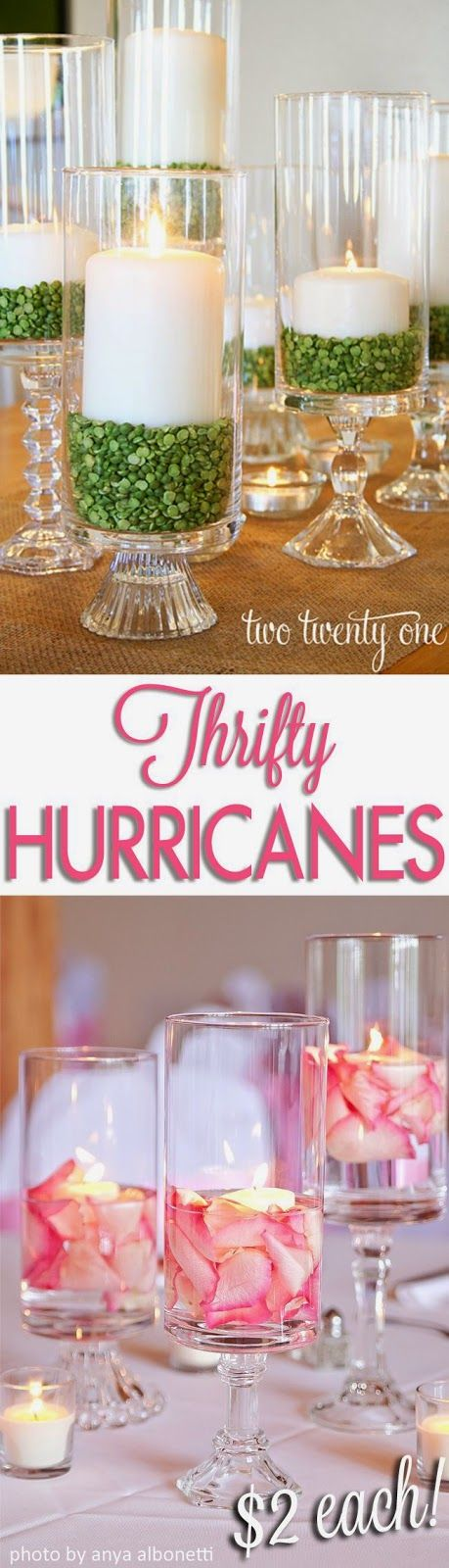 Best DIY Projects: Thrifty Hurricanes! Perfect for everyday decor or special occasions and only $2!