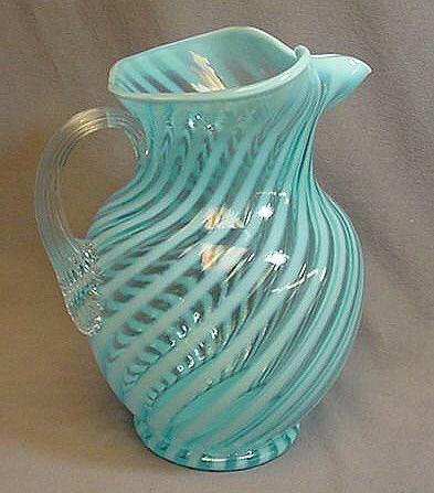 fenton glass pitcher - This is gorgeous!