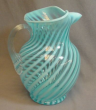 fenton glass pitcher - This is gorgeous!