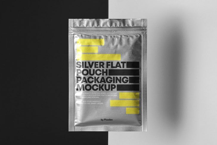 Download Free Floating Sachet Aluminum Pouch Mockup Free Package Mockups Packaging Mockup Pouch Packaging Free Packaging Mockup