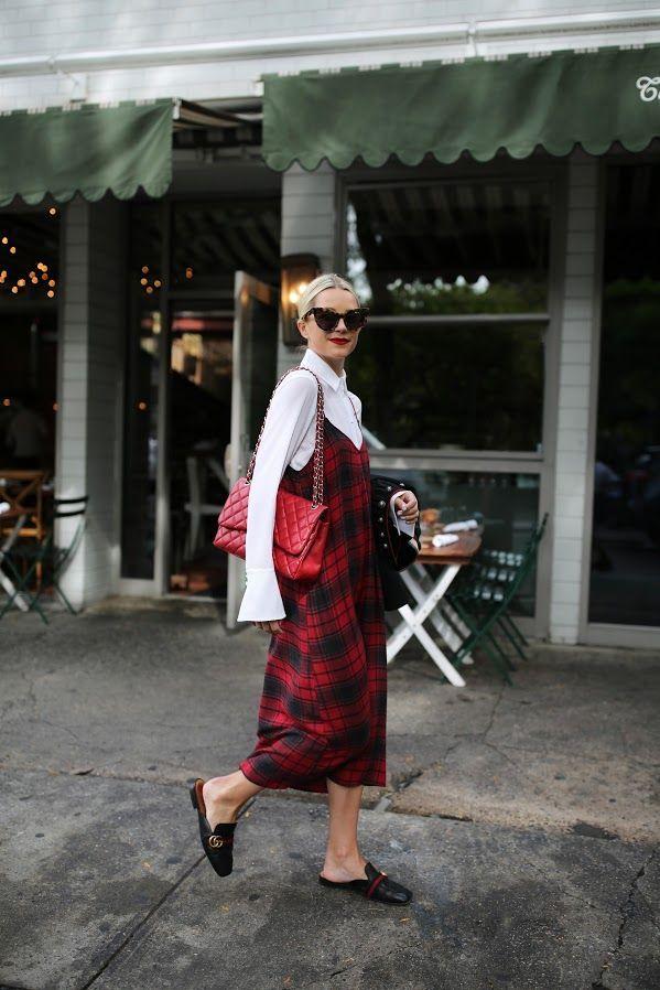 walk it off // the plaid slip dress