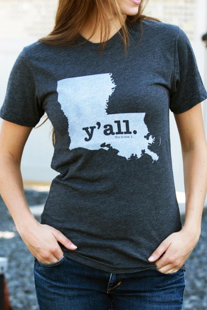 Y'ALL Louisiana Shirt on BourbonandBoots.com