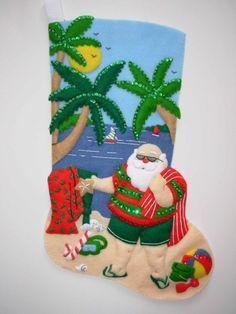 FINISHED Handcrafted  Bucilla Felt Christmas by JoysofChristmas