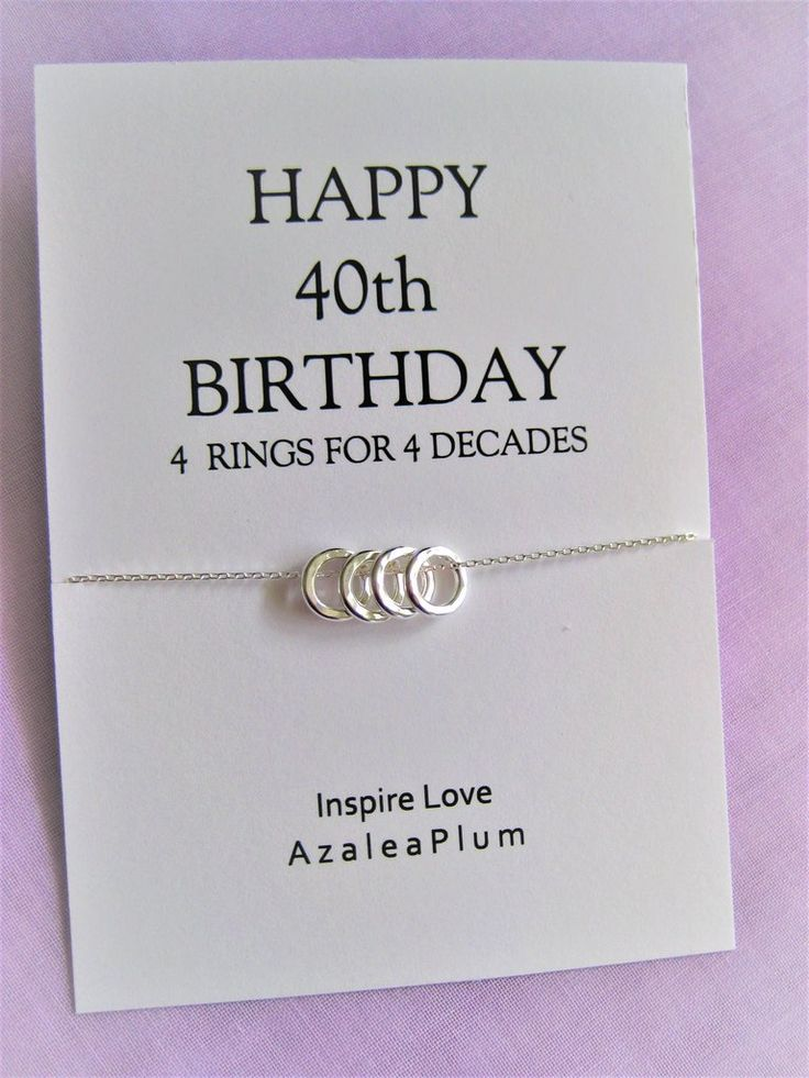 40th birthday gifts women solid sterling silver necklace