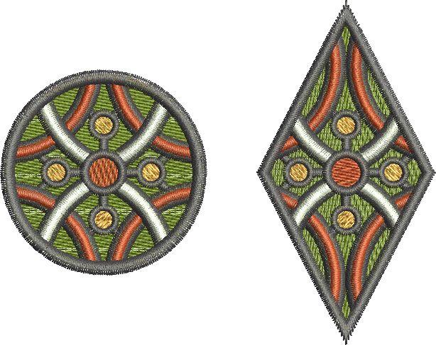 Morocco Geo embroidery design