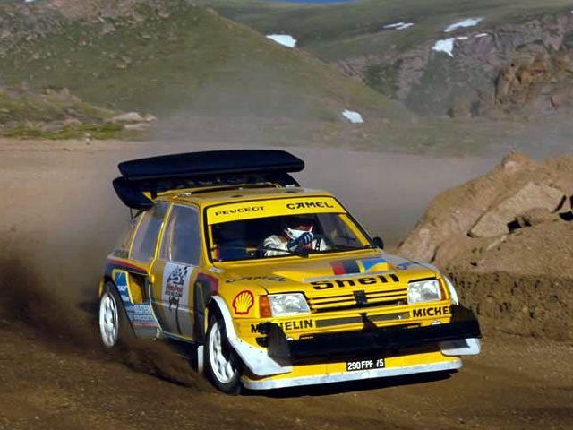 Peugeot 206 T16 E2 rally car - Pikes Peak
