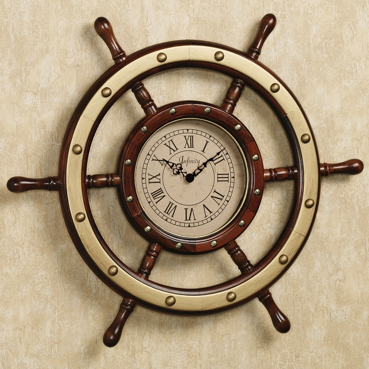nautical bathroom clock