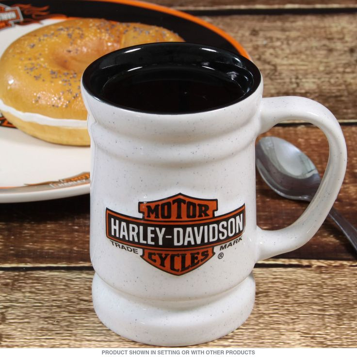 Harley-Davidson Logo Tankard Ceramic Mug   Motorcycle Coffee Mugs   RetroPlanet.com It's a Harley Mug!