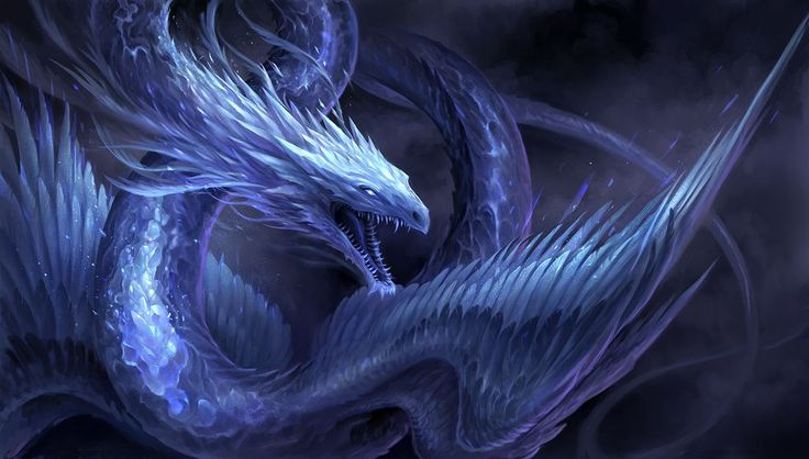 Blue Crystal Dragon by sandara quetzalcoatl monster beast creature animal   Create your own roleplaying game material w/ RPG Bard: www.rpgbard.com   Writing inspiration for Dungeons and Dragons DND D&D Pathfinder PFRPG Warhammer 40k Star Wars Shadowrun Call of Cthulhu Lord of the Rings LoTR + d20 fantasy science fiction scifi horror design   Not Trusty Sword art: click artwork for source