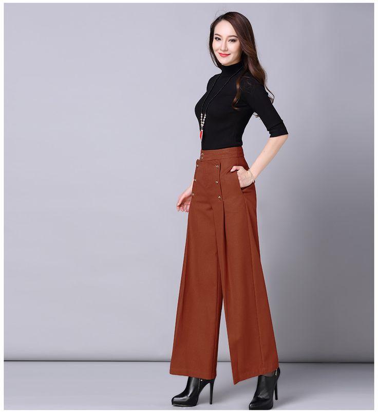 Automne Et Hiver Pantalons Pour Femmes Taille Haute à Jambes Larges Pantalon Pantalon Personnalité Fusées dans Pantalons et Capris de Femmes de Vêtements et Accessoires sur AliExpress.com   Alibaba Group