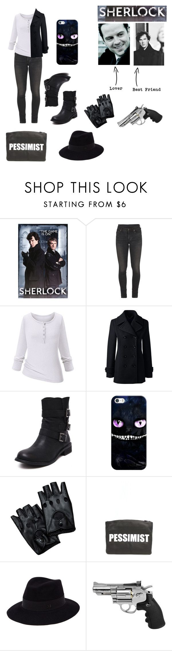 """Me in Sherlock"" by the-freak-of-nature ❤ liked on Polyvore featuring Citizens of Humanity, Lands' End, Casetify, Hayden-Harnett and Maison Michel"
