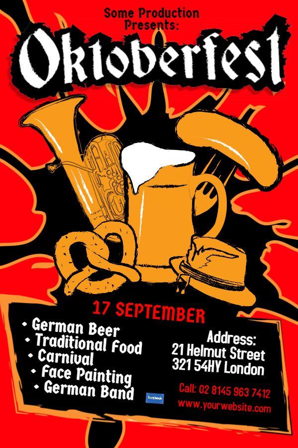 The 20 Best Oktoberfest Flyer Templates Images On Pinterest Flyer