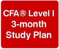 A study plan to study for CFA exam in 3 months.