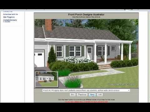 Front Porch Designs Illustrator for a Ranch Style Home