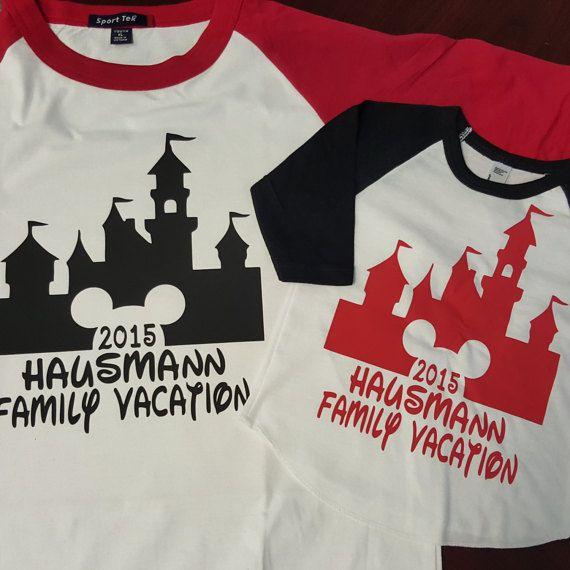 Family Vacation Shirt.  Disneyland or Disneyworld can be made.  Children Sizes Are: 3-6M 6-12M 12-18M 18-24M 2T 4T 6T Youth: XS-XL Adult: XS-6XL