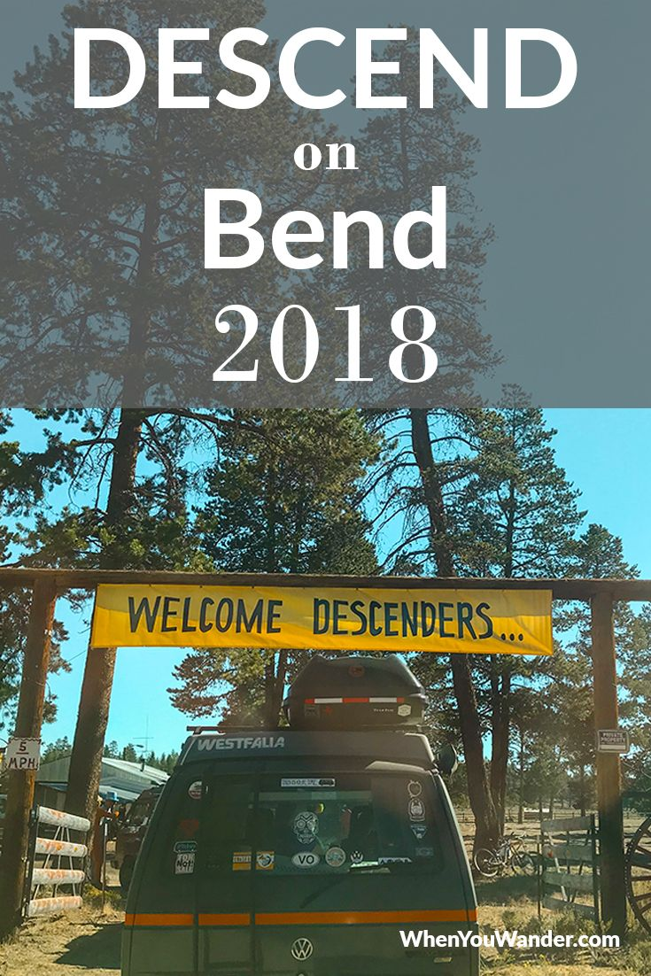 Our First Descend on Bend | when you wander blog | Van life