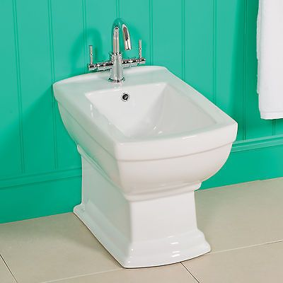 York #white ceramic traditional #bathroom #style back to wall bidet,  View more on the LINK: 	http://www.zeppy.io/product/gb/2/280778176969/