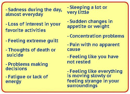 Here are 10 warning signs of depression.It is one of the most frequent diagnoses of healthcare, a mood disorder that paralyzes your life.