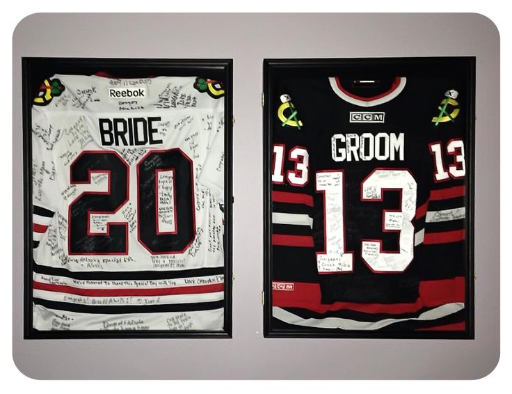 cute idea but with the teams that the bride and groom cheer for!!