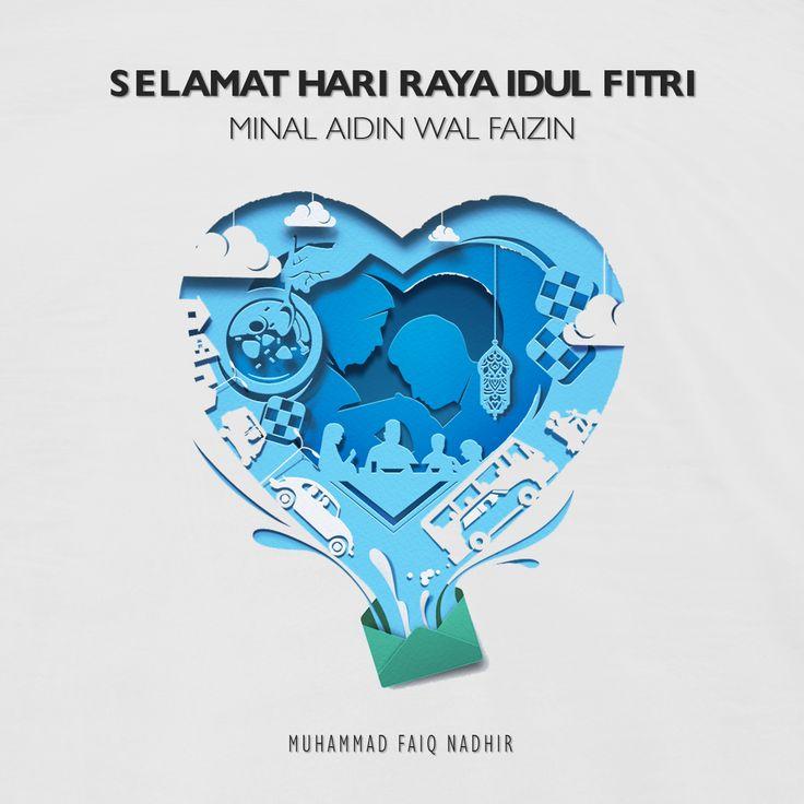 Happy Eid Mubarak, Selamat Hari Raya Idul Fitri (Dengan