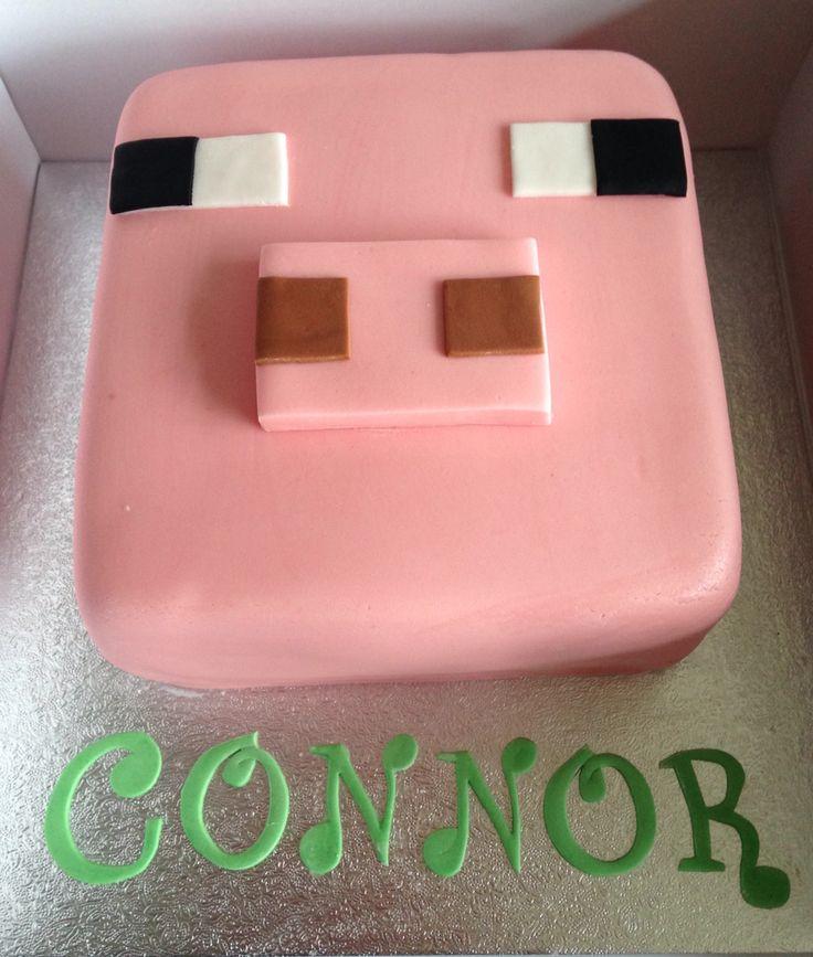 Minecraft pig cake