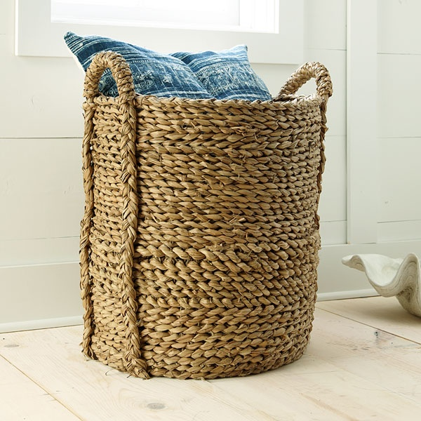 Marvelous Large Woven Seagrass Storage Basket