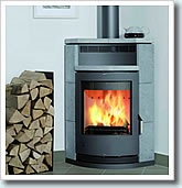 #contemporary_stoves  Contemporary Lyon Soapstone Corner Fitting Wood   Burning Stove