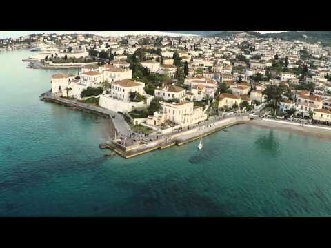Greek Island-Spetses from the air!