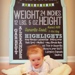 Tutorial for chalkboard monthly photos {the first year}