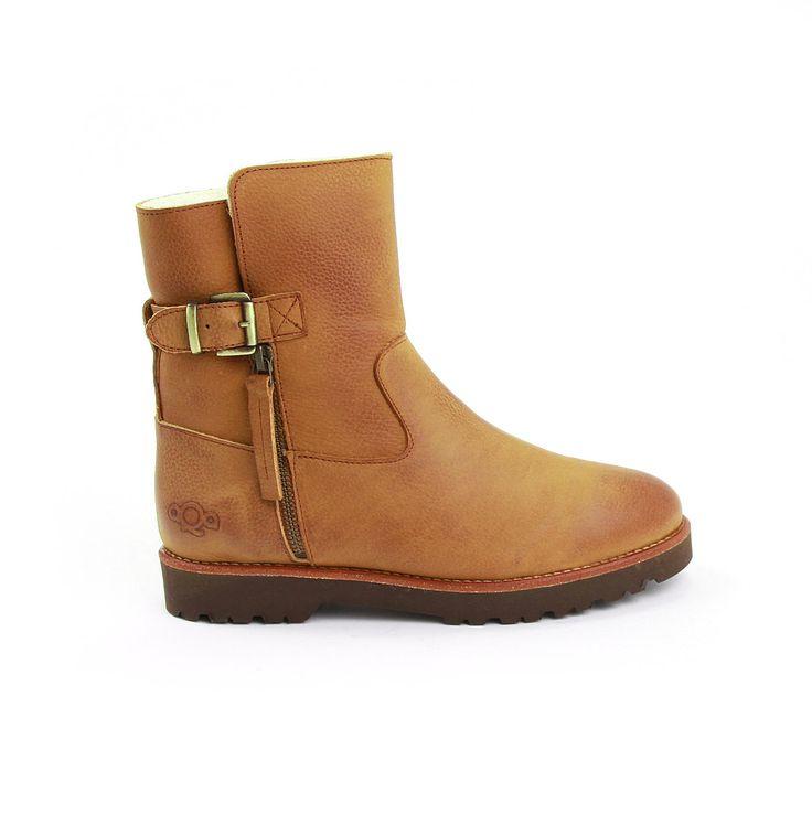AQA Vachtlaarsje gesp/rits 3574 bruin suede voor dames online kopen bij Dungelmann Schoenen   Laat je verrassen door onze collectie