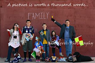 Fun family picture where no letter is needed.  Loved doing this for our Christmas card.