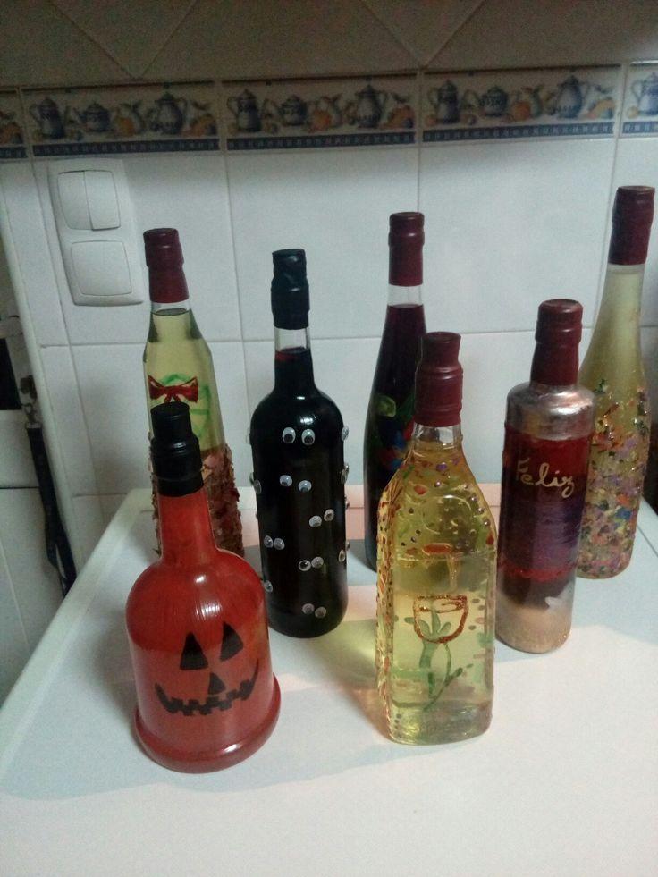 Garrafa de licor decorada