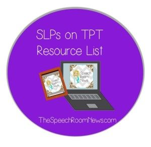 SLPs on TPT. A resource list of all the SLPs selling materials on Teachers Pay Teachers