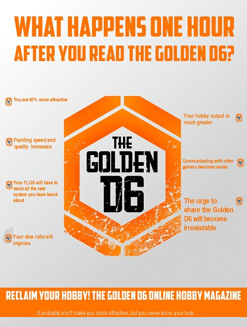 Actual science at work. What happens one hour after you read the Golden D6?