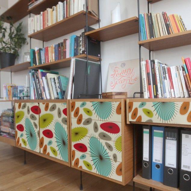Carta adesiva per mobili vintage - Motivo floreale astratto ...