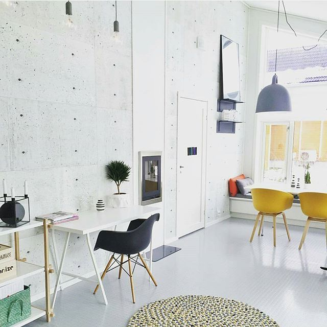 Workspace Inspo and Image Regram thanks to Jannemarit @interior_by_jmsyrstad based in Norway.❤❤❤ Finishing up Friday with an amazing shared dining room/workspace design created by Jannemarit @interior_by_jmsyrstad. One inspiring space right here...those high ceilings are amazing and we love how a workspace has been so cleverly incorporated into a living/dining room so effectively. Thanks Jannemarit we love your home and workspace style!❤❤❤