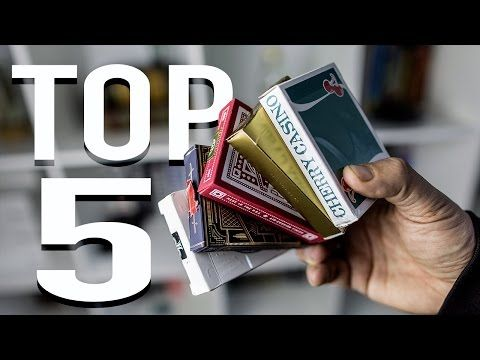 BEST PLAYING CARDS - TOP 5 - YouTube