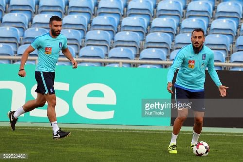 Konstantinos Mitroglou of Greece ® during Training this……... #agioskonstantinos: Konstantinos Mitroglou of Greece ®… #agioskonstantinos