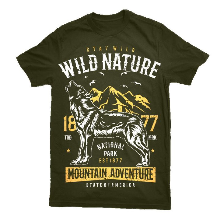 Wild Nature Tee shirt design