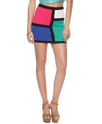 Mod Colorblock Skirt   FOREVER21$10.80
