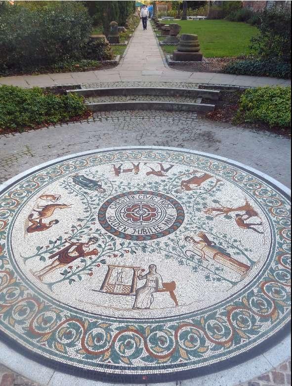 Chester Roman Garden Mosaic - Gary Drostle © 2011