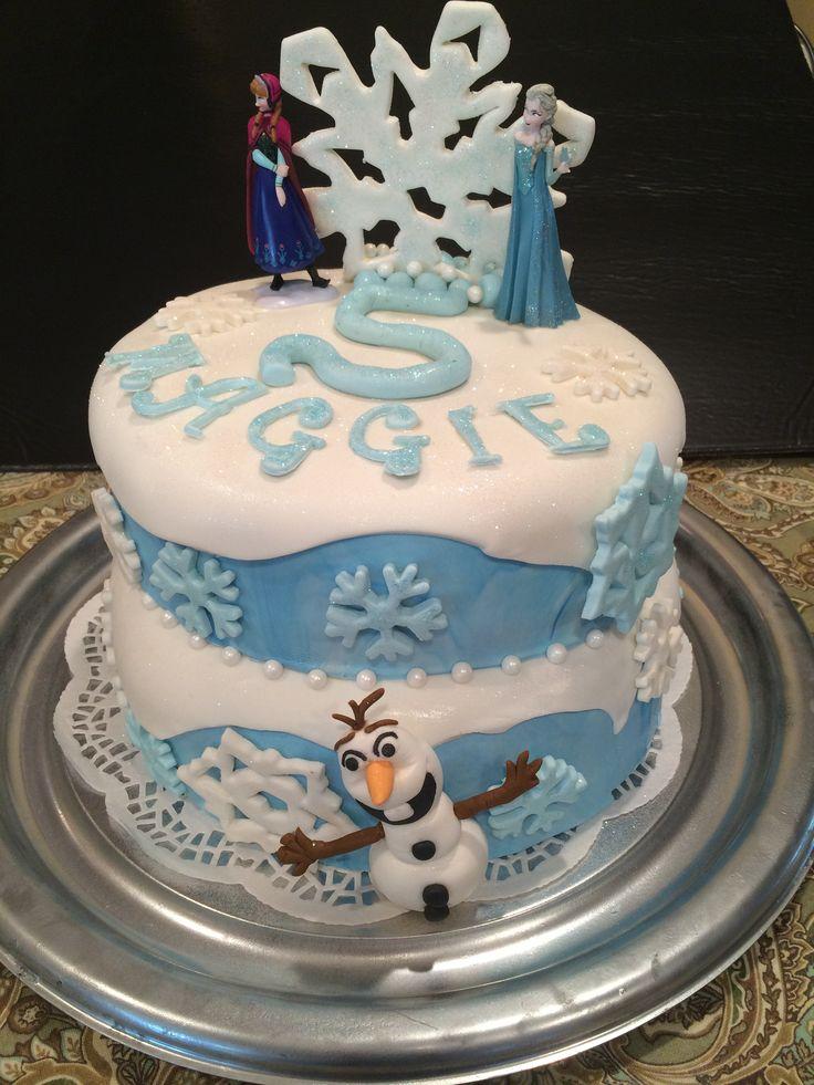 Disney Frozen Theme Cake Fondant Olaf Cakes That Make