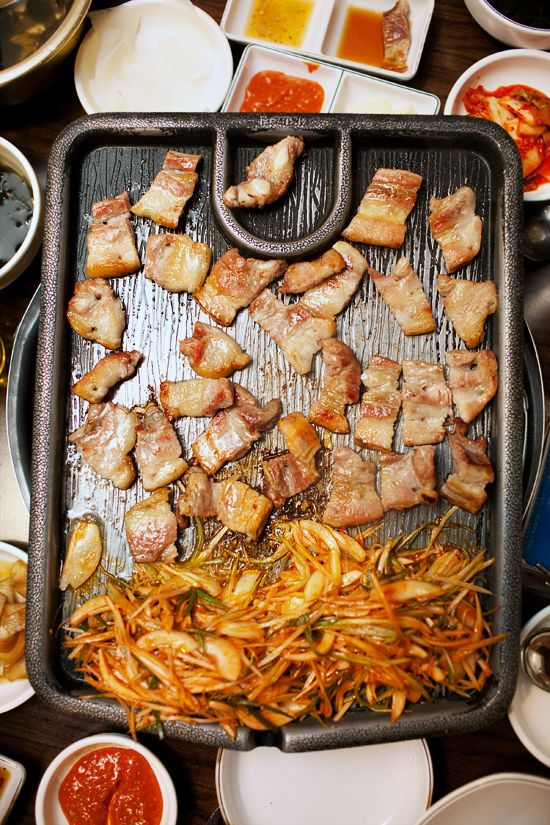 pork belly on the grill/à la mode* | seoul food